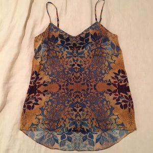 BRAND NEW Joe Fresh 100% Silk Printed Cami